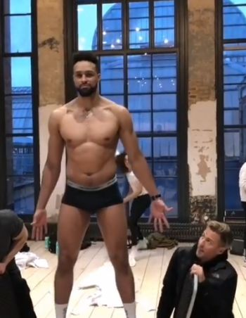 Ashley Banjo underwear all new monty 2019