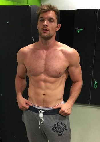Ed Skrein hot in sweatpants