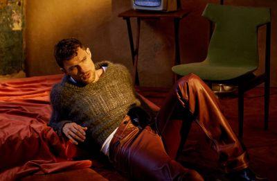 Ed Skrein hot men in leather pants