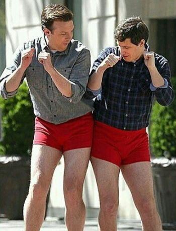 Jason Sudeikis underwear with andy samberg