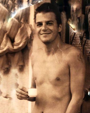Mehmet Gunsur young shirtless body