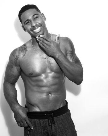 Vaughn Hebron shirtless abs