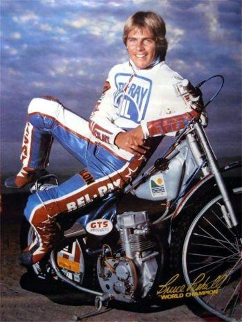 hot vintage men 1980s bruce penhall motorcycle racer