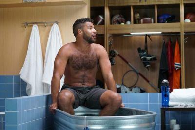 bubba wallace shirtless ice bath