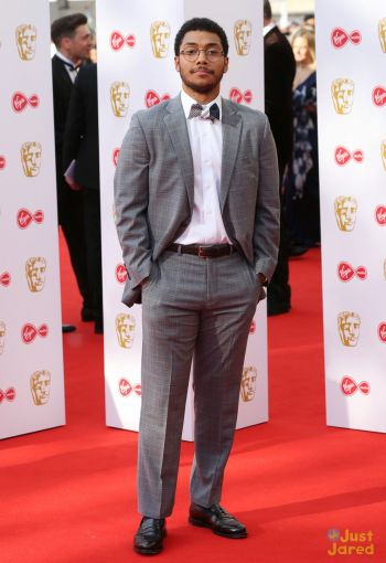 chance perdomo fashion style - suit and tie bafta