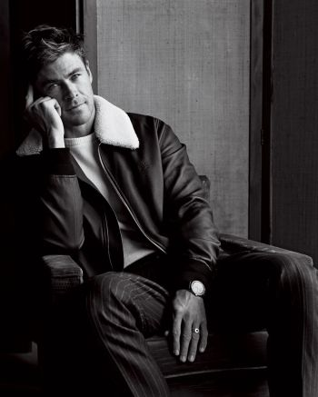 chris hemsworth leather jacket by louis vuitton