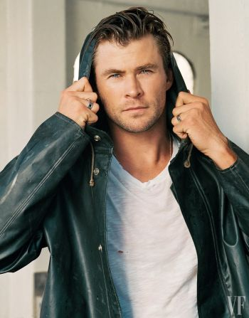 chris hemsworth leather jacket for vanity fair