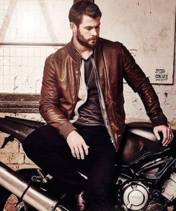 chris hemsworth leather jacket foxtel magazine au