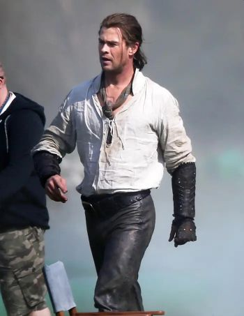 chris hemsworth leather pants in woodsman