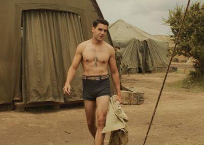 christopher abbott hot in short shorts