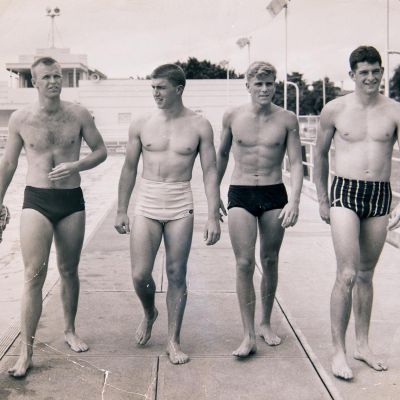 classic speedo briefs - australian swimmers 1956 melbourne olympics relay team