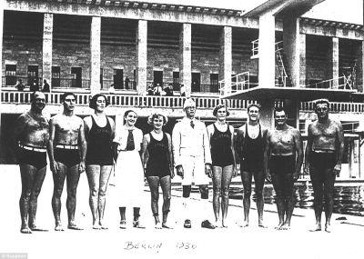 classic speedo swimwear - australian swimming team - 1936 berlin olympics