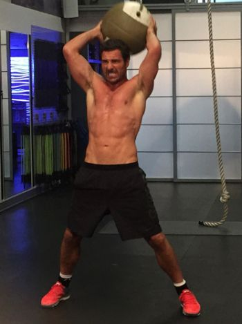 ed quinn shirtless workout