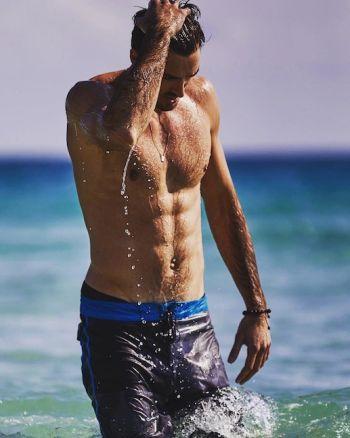 hot male volleyball player - Alex Ranghieri - wet