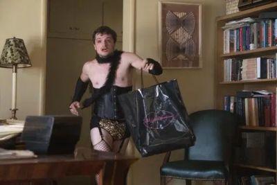 josh hutcherson wearing womans dress in future man
