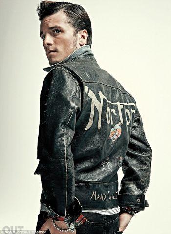 josh hutcherson gay out magazine leather jacket