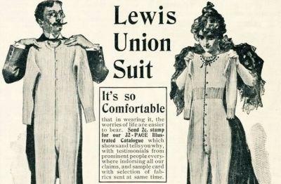 mens suit underwear classic - lewis union suit