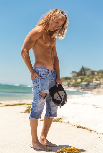 mitchell hoog shirtless in jeans