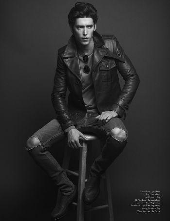 pico alexander model lanvin leather jacket topman jeans