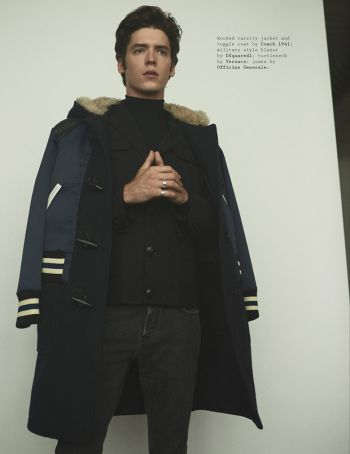 pico alexander model - long coat by coach 1961