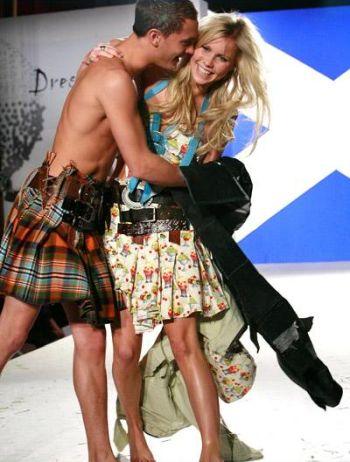 rafi gavron kilt - dressed to kilt 2009 - with claire holt