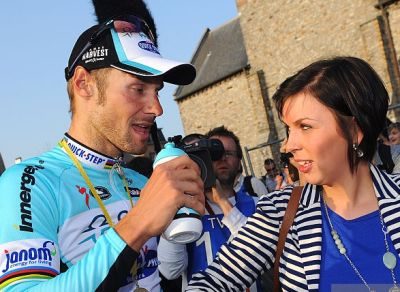 tom boonen girlfriend Lore VAN DE WEYER