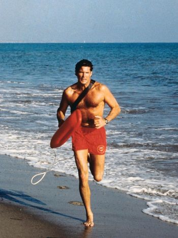 vintage workout clothes - shorts - running david hasselhoff