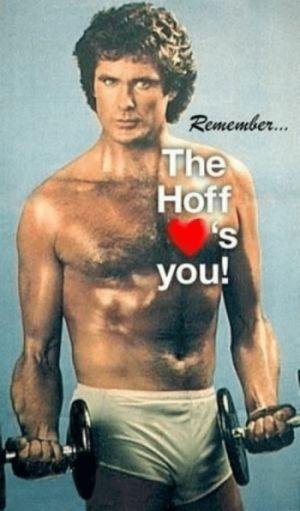 vintage workout for men - david hasselhoff - short shorts