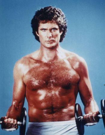 vintage workout routine for men - david hasselhoff