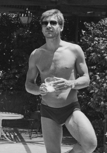 young harrison ford speedo bulge