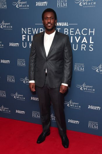 Abubakar Salim hot in suit and tie - newport beach film festival 2020