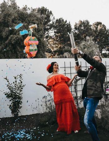 Artem Chigvintsev nikki bella gender reveal party