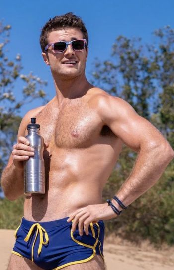 Beau Mirchoff shirtless in speedo swimsuit