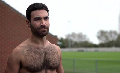 Brett Goldstein shirtless chest hair