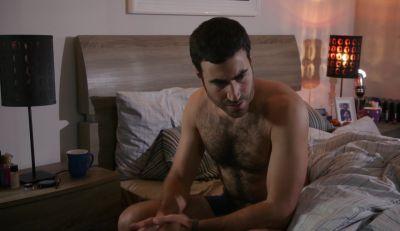 Brett Goldstein underwear and body in the pact
