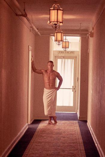Christian McCaffrey shirtless body gq magazine photoshoot