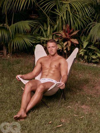 Christian McCaffrey underwear - gq editorial