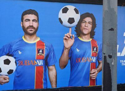 Cristo Fernández ted lasso billboard in california