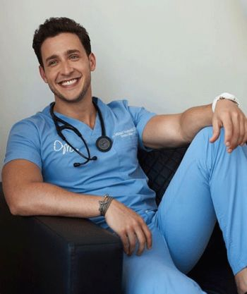 Dr Mike Varshavski hot in scrubs