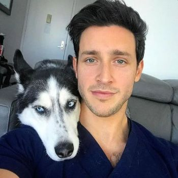Dr Mike Varshavski hot with a husky