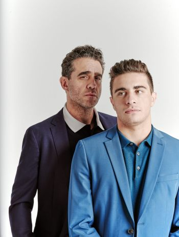 Jake Cannavale with dad bobby