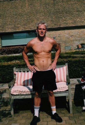 Jamie Laing shirtless