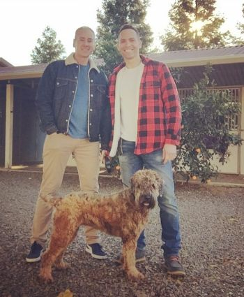 Jeff Ranieri daryl jones and their dog lucy