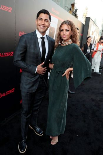 Martin Sensmeier girlfriend kahara hodges equalizer 2 movie premiere