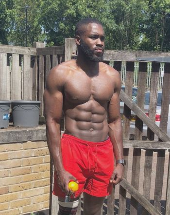 Martins Imhangbe shirtless body