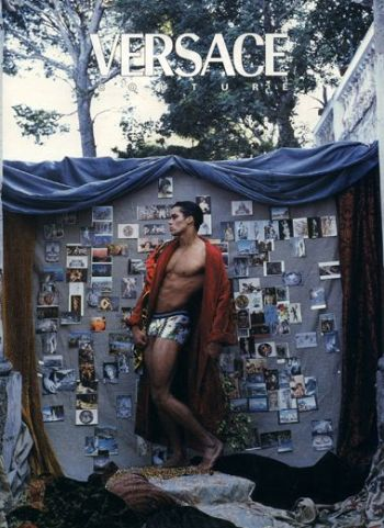 Matt Cedeño underwear versace model