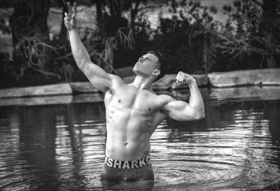 Maximilian Acevedo underwear model muscle hunk