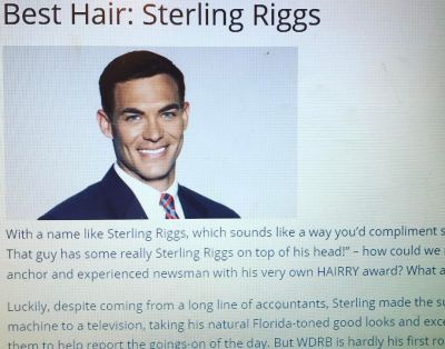 Sterling Riggs WDRB best hair award in kentucky