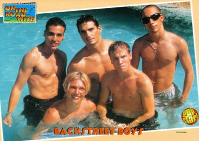 aj mclean shirtless young - with backstreet boys
