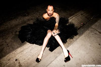 aj mclean wedding dress drag queen